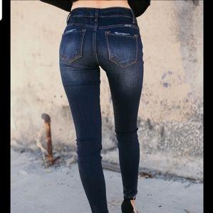 NWT KanCan dark wash skinny jeans